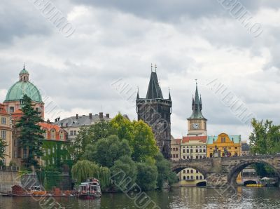 Old Prague view from the river