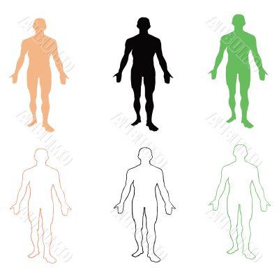 Man. Person`s silhouette. Vector illustration