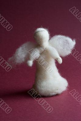 White wool angel