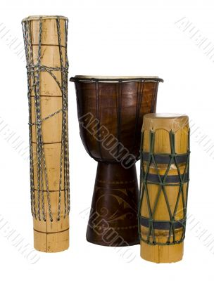 group  exotic african drums