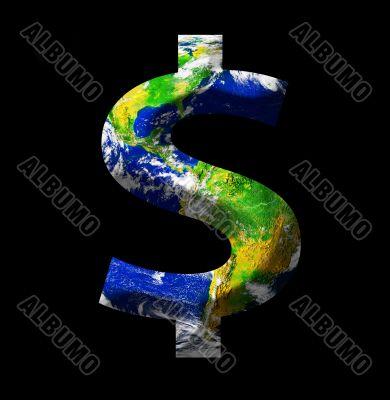 Earth as a dollar sign