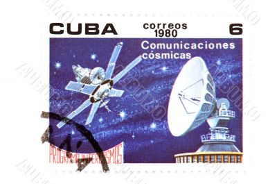 Cuban postage stamp on white