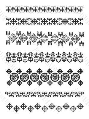 Kazakhstan traditional embroidry