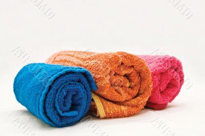 Three colour towels