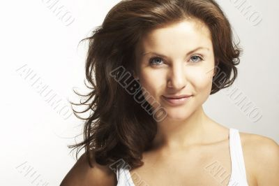 A happy young woman