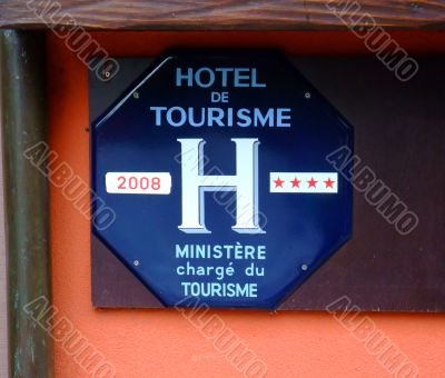 Four stars classification of a french hotel