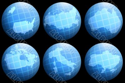 collections countries on globe