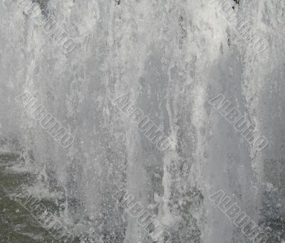 water fountain flowing