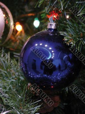 Christmas-tree decoration on a fur-tree.