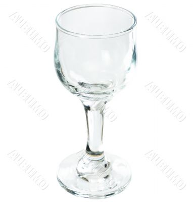 A glass on a long thin leg