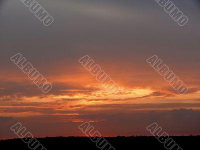 Clouds at a dawn.