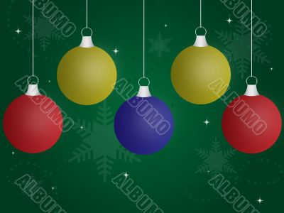 Colored Christmas Ornaments