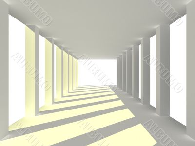 abstract tunnel. 3D image. Illustrations