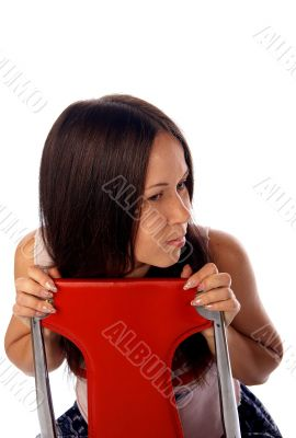 Young woman on the chair