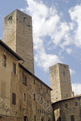 San Gimignano (Siena) - Medieval buildings