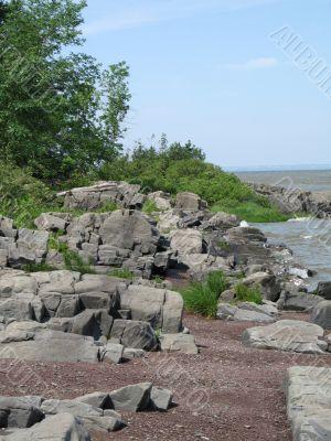 seascape at low tides