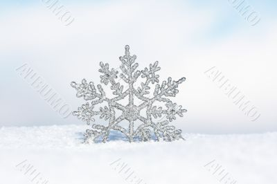 Silver Snowflake `Seasons Greetings`