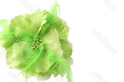 Beautiful green fake flower