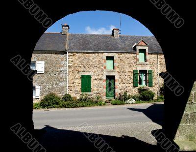 Village view through the arc