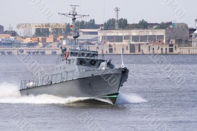 Russian military boat