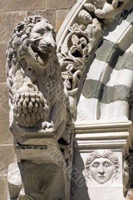 Lucca (Tuscany) - Detail of San Giusto church