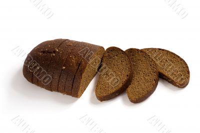 Sliced brown rye bread