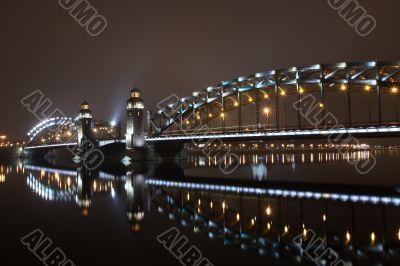 Peter the Great bridge of St. Petersburg