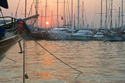 Yachts preparing to dreams