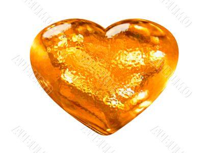 3D golden pattern heart classic love symbol