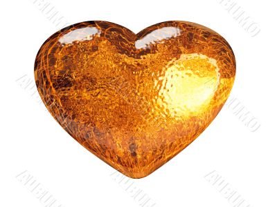 3D golden pattern heart classic love symbol