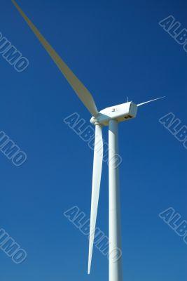 close up of a wind turbine