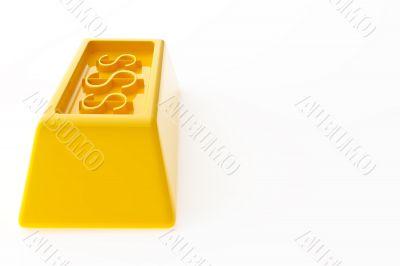 Shiny gold ingots