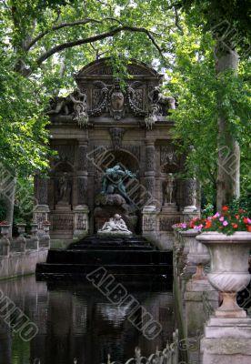 Paris. Fountain in the Latin quarter