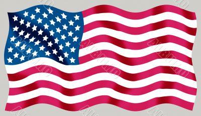 USA - flying flag