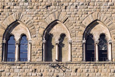 Volterra (Pisa) - Three mullioned windows