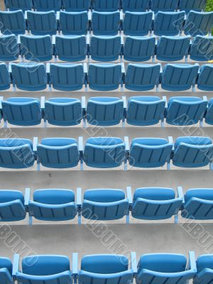 row of blue event seats
