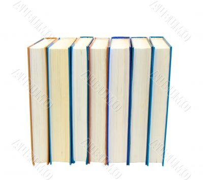 Lot of books isolated