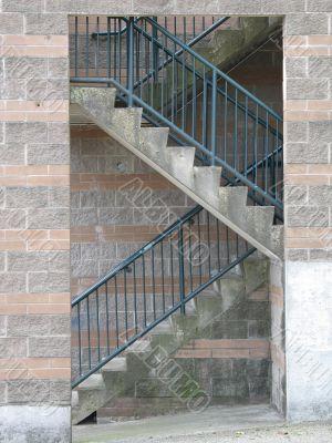 exterior concrete staircase