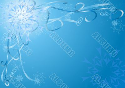 New year`s snowflakes