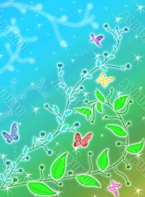 Butterflies and plants