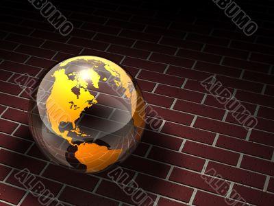 Globe And Bricks