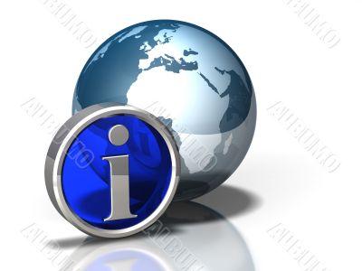 Globe Icon Info