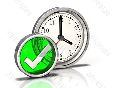Clock Icon Checkmark