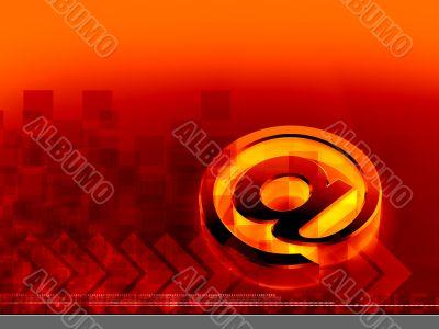 Glowing Orange At Symbol