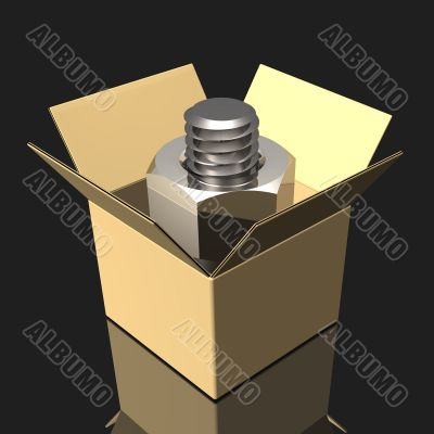 Cardboard Box And Bolt