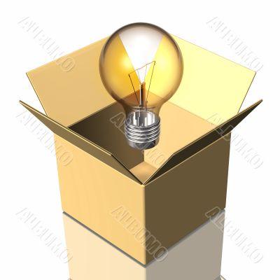 Box And Light Bulb
