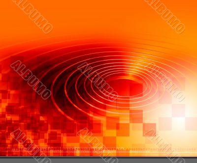Orange Ring Background Texture