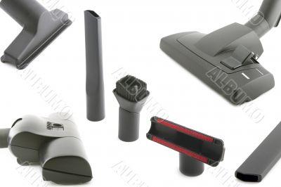 Black brush vacuum cleaner closeup