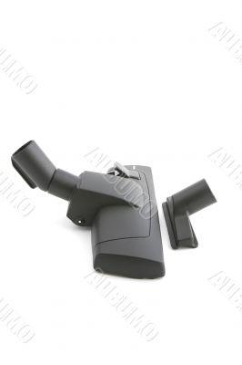 Black brush vacuum cleaner macro