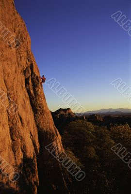 Rock Climbing in Stronghold, Arizona